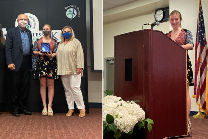 Lisa Kline receives Pamela Capaci Recovery Hero Award