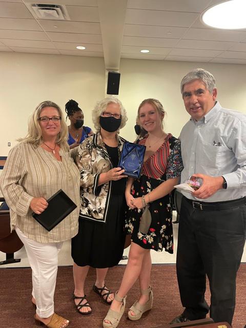 Pictured from left: Pamela Capaci, CEO of HOPE Sheds Light; Mrs. Kline; Lisa Kline, and Mr. Kline.